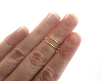 Above The Knuckle Gold Midi Ring Rose Gold Silver Minimalist Ring Gold Knuckle Ring Gift for Her Adjustable Ring