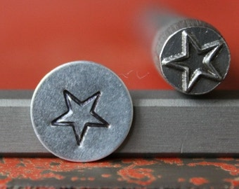 Large Star Design Stamp Perfect for Metal Stamping and Design Work  SG375-54