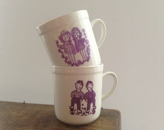 Soviet kids mug set Russian kids cup Small cup with girls boys Soviet Children mug USSR era 80s