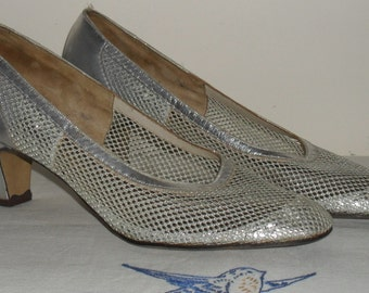 1970s BECTIVE Silver Mesh Shoes