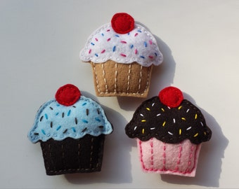 Kitty Cupcakes - Hand-Stitched Catnip Toys