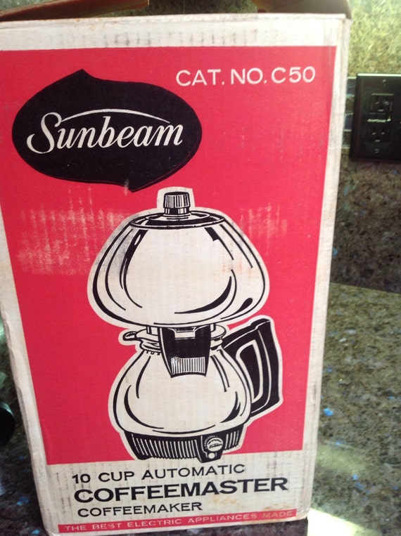 Sunbeam Double Bubble C-50 10 cup Coffee Maker Unused New In