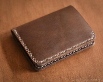 6 Pocket Horizontal Wallet, Horween Chromexcel leather, for front or back pocket - natural