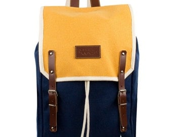 Echo Levanto Backpack. Mediterranean Inspired. Nautical bag . Men's Backpack