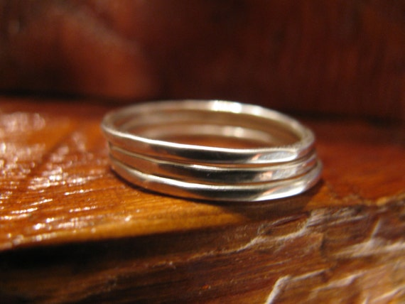 Sterling Silver Hammered Stacking Stack Ring, One Of A Kind, Unique, Custom Made, Toniraecreations