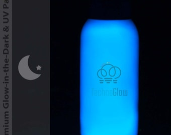 Blue Glow in the Dark & UV Paint