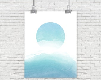 Abstract watercolor Printable Abstract watercolor print blue watercolor print blue Abstract wall art abstract watercolor art