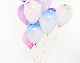 14 Pastel Watercolor Balloons