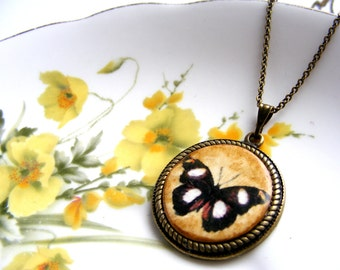 Vintage style butterfly pendant