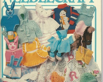 Annies Crochet Pattern Book - 27 Beautiful Patterns - Booties, Cape & Cap, Popcorn Vest, Diaper Cover Set, Flower Afghan, Lederhosen, Hats..