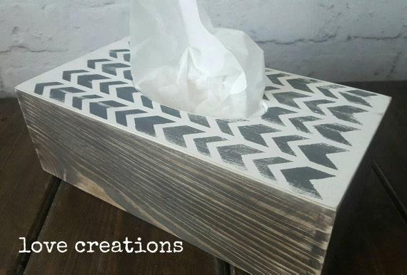 Tissue cover box,holder,wooden tissue box,chevron pattern,Vintage Style Box,dark oak,chalky paint,house,bedroom, boudoir decor.napkin box