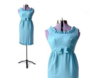 1960s Blue Dress, 1960s Dress, 60s Dress Small 1940s Dress, Blue 1960s Dress mod 60s dress small 60s dress vintage 60s dress dress womens xs