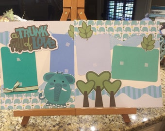 Two 12 x 12 premade scrapbook pages