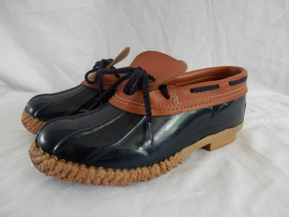 Perfect Vintage Black Rubber Fleece Granny Rain Snow Boots Womens 7 37.5 USA Made | EBay