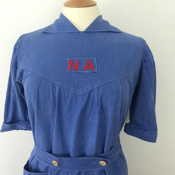 Original WWII 1940s British NA vintage nurse uniform nursing auxiliary Women's National Service Uniform WW2 UK 14