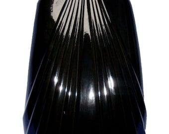Tall Art Deco Gothic Black Laquer Ceramic Lamp