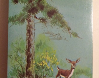Vintage Playing Card Deck Deer in the Woods - sealed unopened - old playing cards, Animal Playing Cards