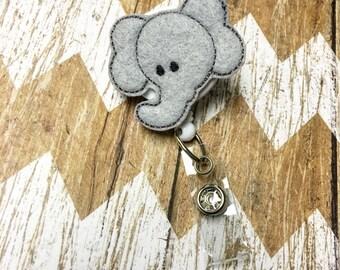 Elephant Badge Reel, Badge Clip, Retractable Name Badge, ID Holder, Teacher ID Clip, Badge Pull