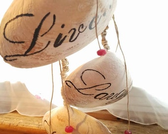 Live Laugh Love Shell Wind Chime