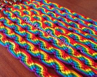 Rainbow Friendship Bracelets - Peruvian Wave