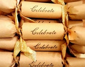Celebrate! Party cracker wedding favors!
