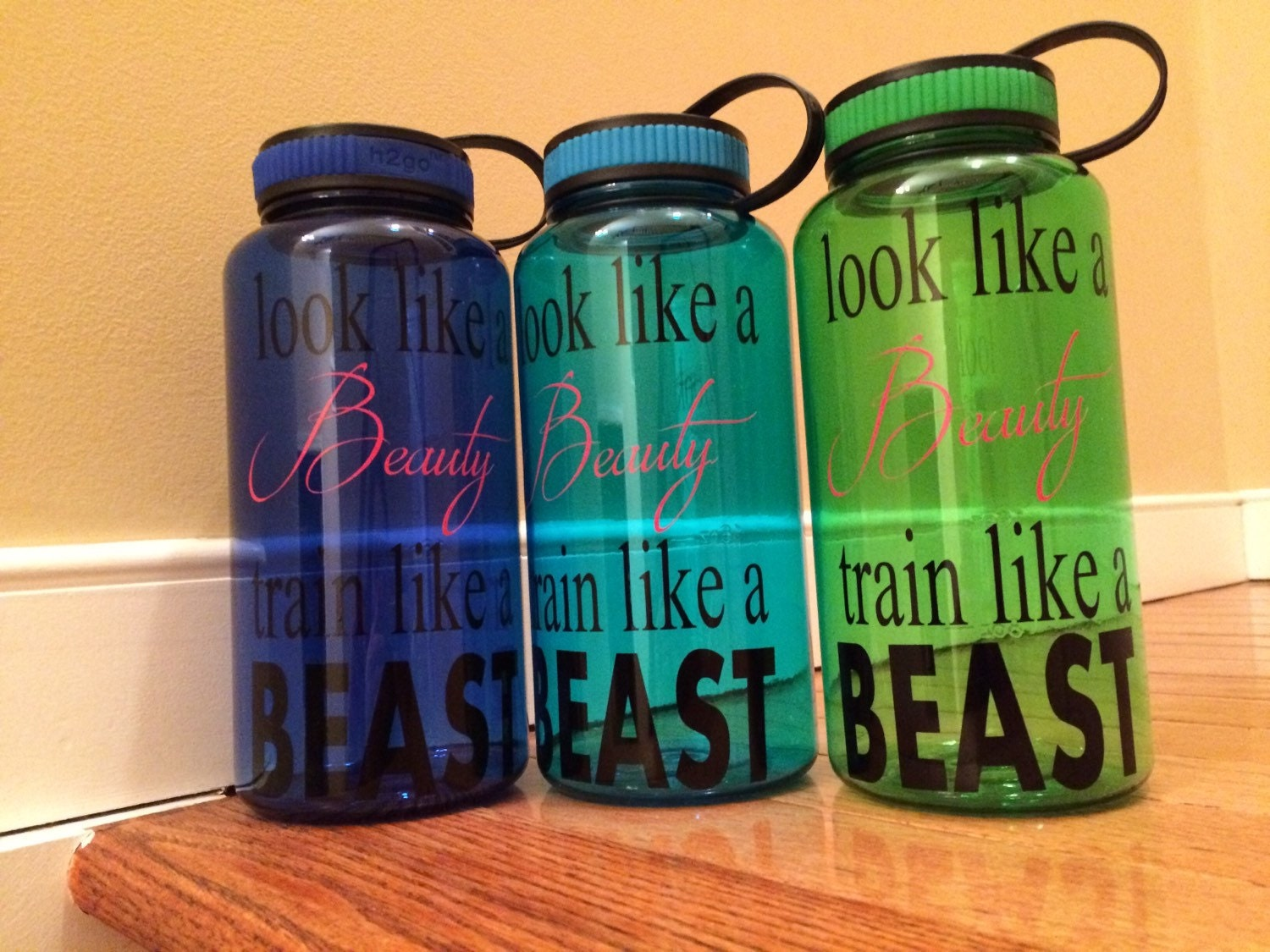 Personalized 34 Ounce Water Bottle Inspirational Quotes