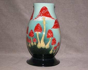 NEW FAIRY RING Tall Medium-Large Fry Agaric Toadstool vase