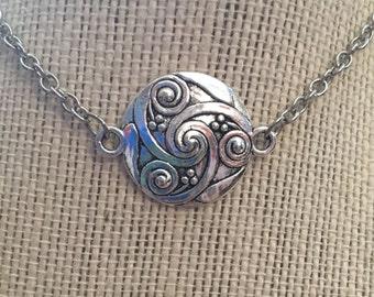 """20"""" Silver Funky Swirls Necklace"""
