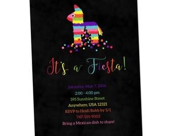 Fiesta Invitation - First Fiesta Invitation - Fiesta Birthday Invitations - Party Invitations - Cinco de Mayo Fiesta