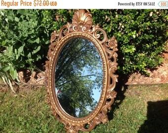 Vintage Ornate Gold Mirror Vintage Mirror