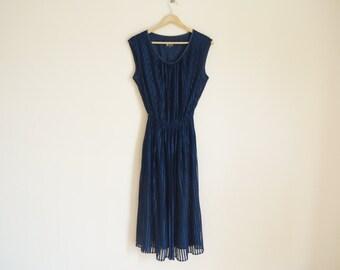 Vintage Night Blue Dress