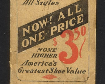 1924 Notebook - Newark Shoes  - Newark Shoe Store Co.- Ithaca, N.Y.