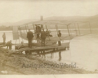 Curtiss sea plane airplane antique early aviation photo