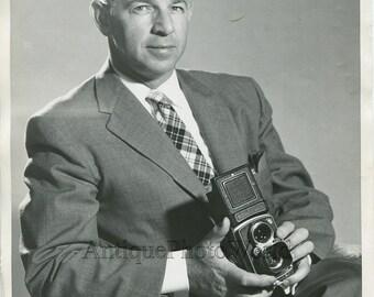 Photographer M. Devlin Rolleiflex camera vintage photo