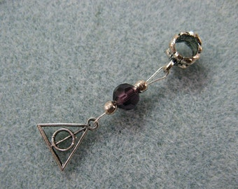 Dreadlock charm dangle Harry Potter Deathly Hallows