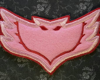 Iron on Patch Owlette Emblem/ Logo. For T Shirt, Sweatshirt, Backpack, Birthday DIY PJ Masks Costume Owlette costume