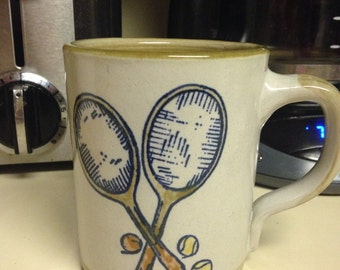 Louisville Stoneware Tennis Themed Mug