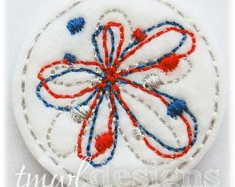 "Firecracker Flower A Feltie Digital Design File - 1.75"""