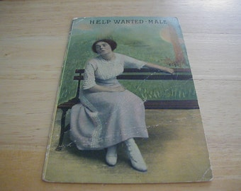 Victorian woman looking for a male.  Very unusual for this era to see a woman advertising for a companion.