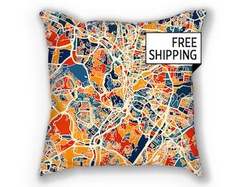 Kuala Lumpur Map Pillow - Malaysia Map Pillow 18x18