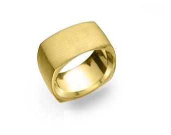 Kaballah Ring, Kabbalah Wedding Ring, Jewish Jewelry, Kabbalah wedding band, wide wedding ring, Kabbalah, geometric square ring