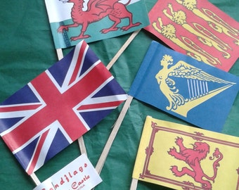 Vintage Sandcastle Flags