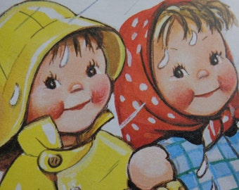 In the Rain Mabel Lucie Attwell book illustration