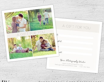 Gift Card Template Easter Photography Certificate Photoghop