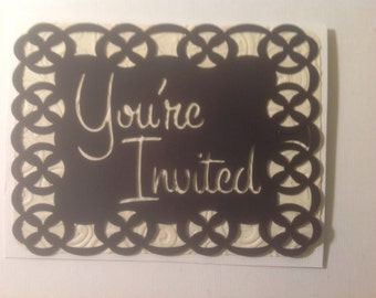 Simply Silhouettes-Make It Yourself-Greeting Card Toppers-You're Invited - Quick, Easy, Cheap