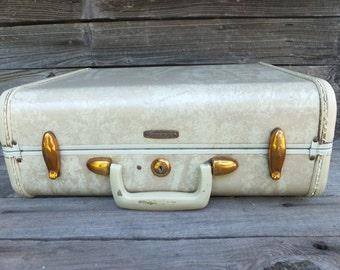 Vintage 40s/50s Samsonite Luggage, Carry on, Overnight Bag, Small Samsonite Luggage