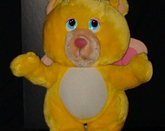 Vintage Stuffed Wuzzle!! Butterbear!  Hasbro Softies!  1984!!
