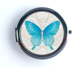 Pocket Mirror - Blue Butterfly