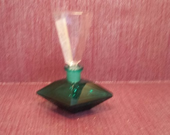 Green Glass Perfume Bottle