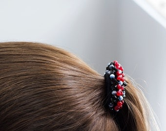 Sparkly Beaded Ponytail Holder
